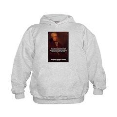 Mozart's Work: Symphony, Piano Kids Hoodie