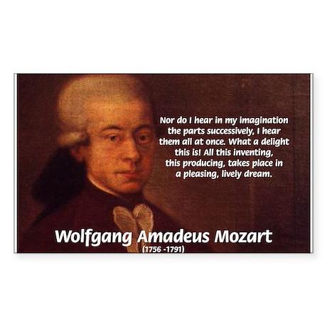 Mozart's Work: Symphony, Piano Sticker (Rectangula