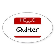 I am a Quilter Oval Stickers