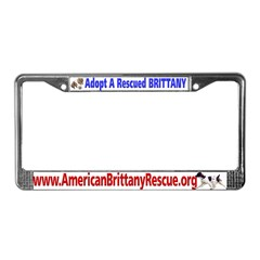 Adopt A Rescued Brittany License Plate F