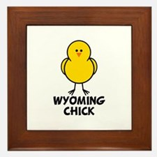 Wyoming Chick Framed Tile