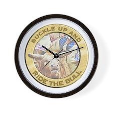 Bull Buckle Wall Clock