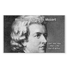 Music, Genius and Mozart Rectangle Decal