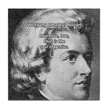 Music, Genius and Mozart Tile Coaster