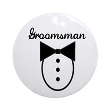 Groomsman Ornament (Round)