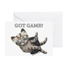 Got Game Kitten Greeting Card