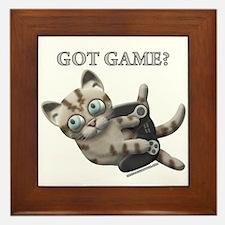 Got Game Kitten Framed Tile