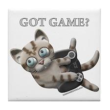 Got Game Kitten Tile Coaster