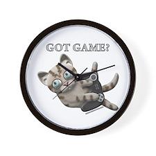 Got Game Kitten Wall Clock