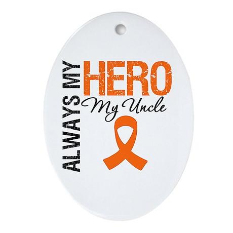 Leukemia Hero Uncle Oval Ornament