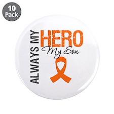 "Leukemia Hero Son 3.5"" Button (10 pack)"
