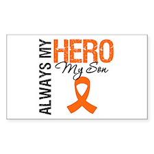 Leukemia Hero Son Rectangle Decal