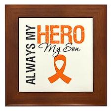 Leukemia Hero Son Framed Tile