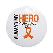 Leukemia Hero Son Ornament (Round)