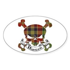 Hunter Tartan Skull Decal