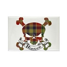 Hunter Tartan Skull Rectangle Magnet