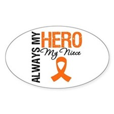 Leukemia Hero Niece Oval Decal