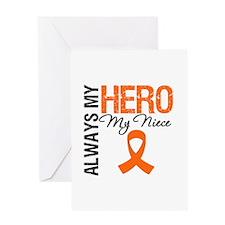 Leukemia Hero Niece Greeting Card