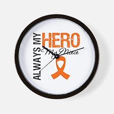 Leukemia Hero Niece Wall Clock