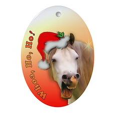 """Ho Ho Horse"" Xmas Oval Ornament"
