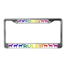 Horses Rule License Plate Frame