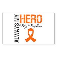 Leukemia Hero Nephew Rectangle Decal