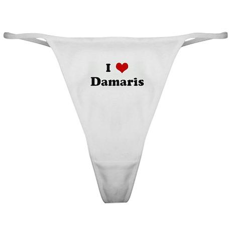 I Love Damaris Classic Thong