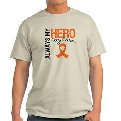 Leukemia Hero Mom Light T-Shirt