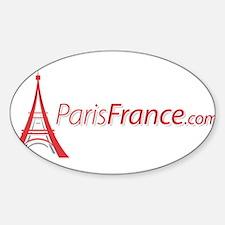 Paris France Original Merchan Oval Decal