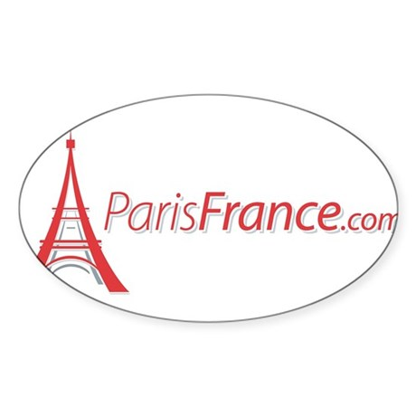 Paris France Original Merchan Oval Sticker