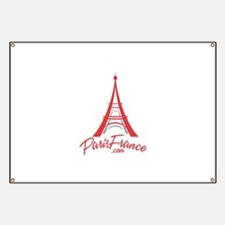 Paris France Original Merchan Banner