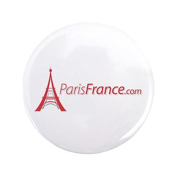 """Paris France Original Merchan 3.5"""" Button (100 pac"""