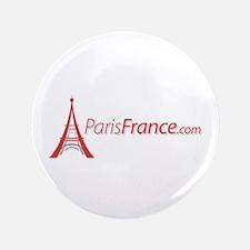 """Paris France Original Merchan 3.5"""" Button"""