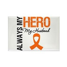 Leukemia Hero Husband Rectangle Magnet