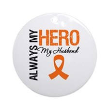 Leukemia Hero Husband Ornament (Round)