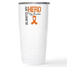 Leukemia Hero Grandson Travel Mug