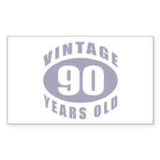 90th Birthday Gifts For Him Rectangle Decal