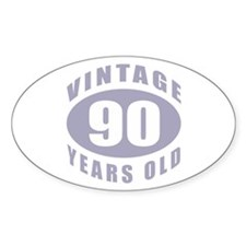 90th Birthday Gifts For Him Oval Decal