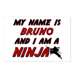 my name is bruno and i am a ninja Postcards (Packa