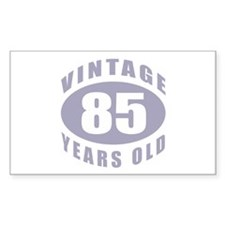85th Birthday Gifts For Him Rectangle Decal