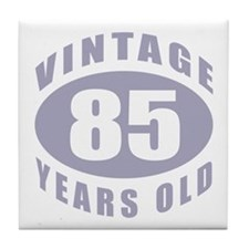 85th Birthday Gifts For Him Tile Coaster