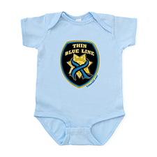 Thin Blue Line Ribbon Shield Infant Bodysuit
