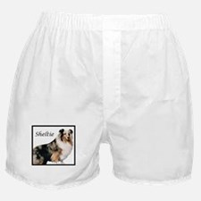 Sheltie With Breed Name Boxer Shorts