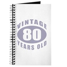 80th Birthday Gifts For Him Journal