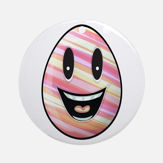 Laughing Easter Egg Round Ornament