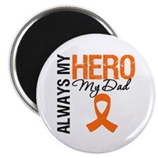 "Leukemia Hero Dad 2.25"" Magnet (100 pack)"