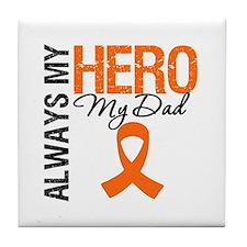 Leukemia Hero Dad Tile Coaster