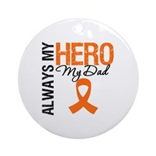 Leukemia Hero Dad Ornament (Round)
