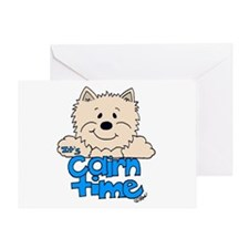 Big Cairn: Med.Off White/Blue Greeting Card