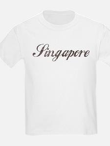 Vintage Singapore Kids T-Shirt